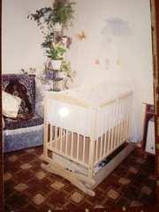 Кровать детская деревянная брэнд Польша с матрасом и полным набором.